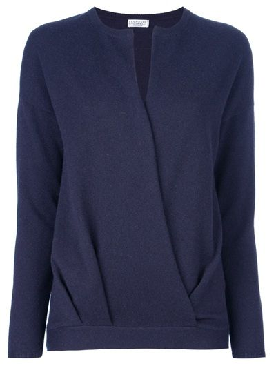 BRUNELLO CUCINELLI - cross front sweater 1
