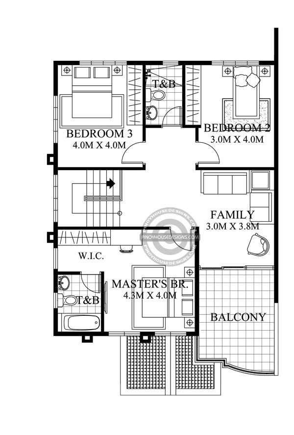 Two Storey House With Firewall Second Floor Plan Interior Designs