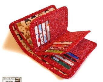 Bifold wallet sewing patternbifold wallet by NapkittenPattern
