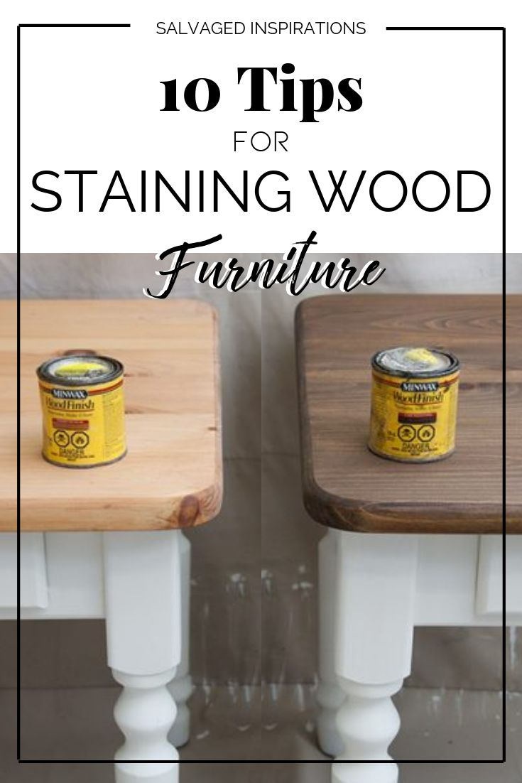 10 Tips for Staining Wood Furniture  – Pallet projects