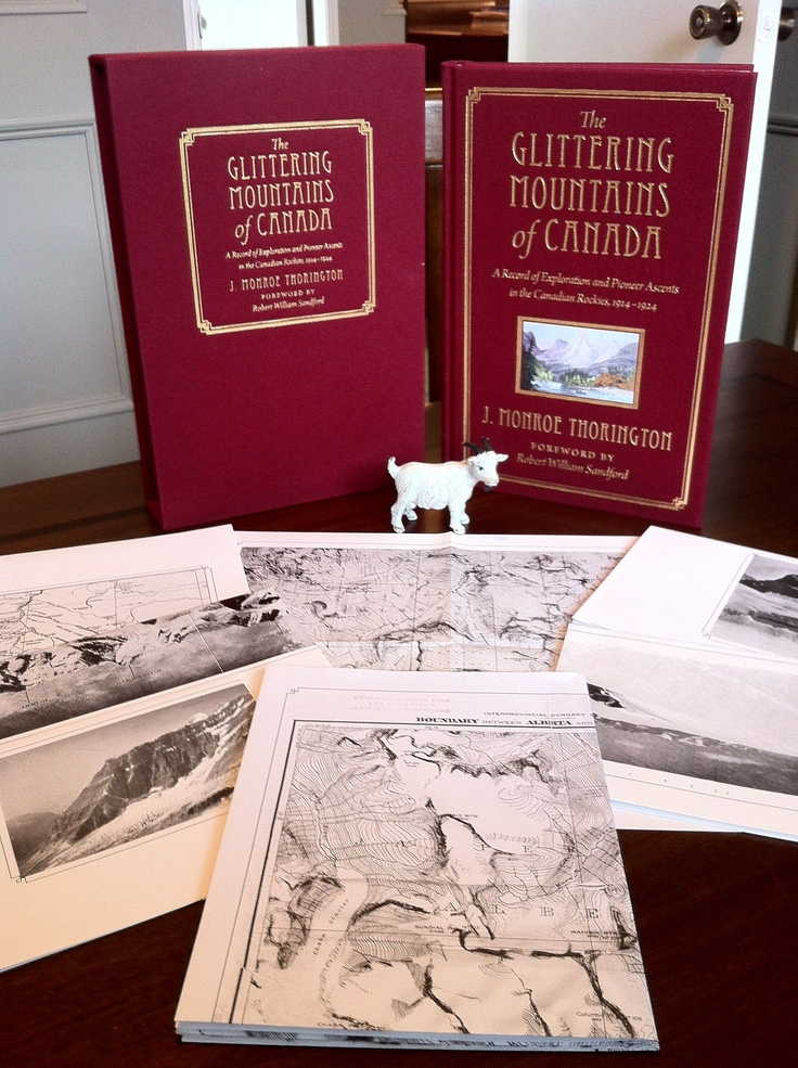 Collector of #mountaineering #books? Check out RMB's Glittering Mountains of Canada, only 200 copies produced! Foldout maps! Cloth bound! Slipcase!