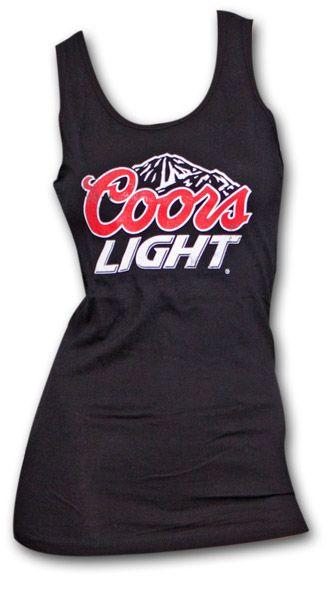 Coors Light Classic Logo Juniors Black Graphic Tank Top
