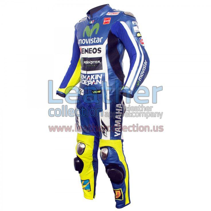 VR46 Movistar Yamaha M1 MotoGP Motorbike Leather Suit