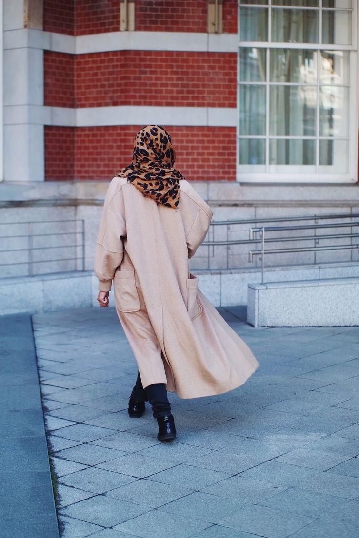 Long camel varsity style coat