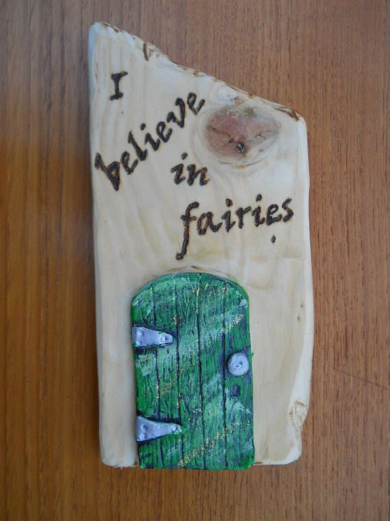Fairy Door Wall Plaque Sign
