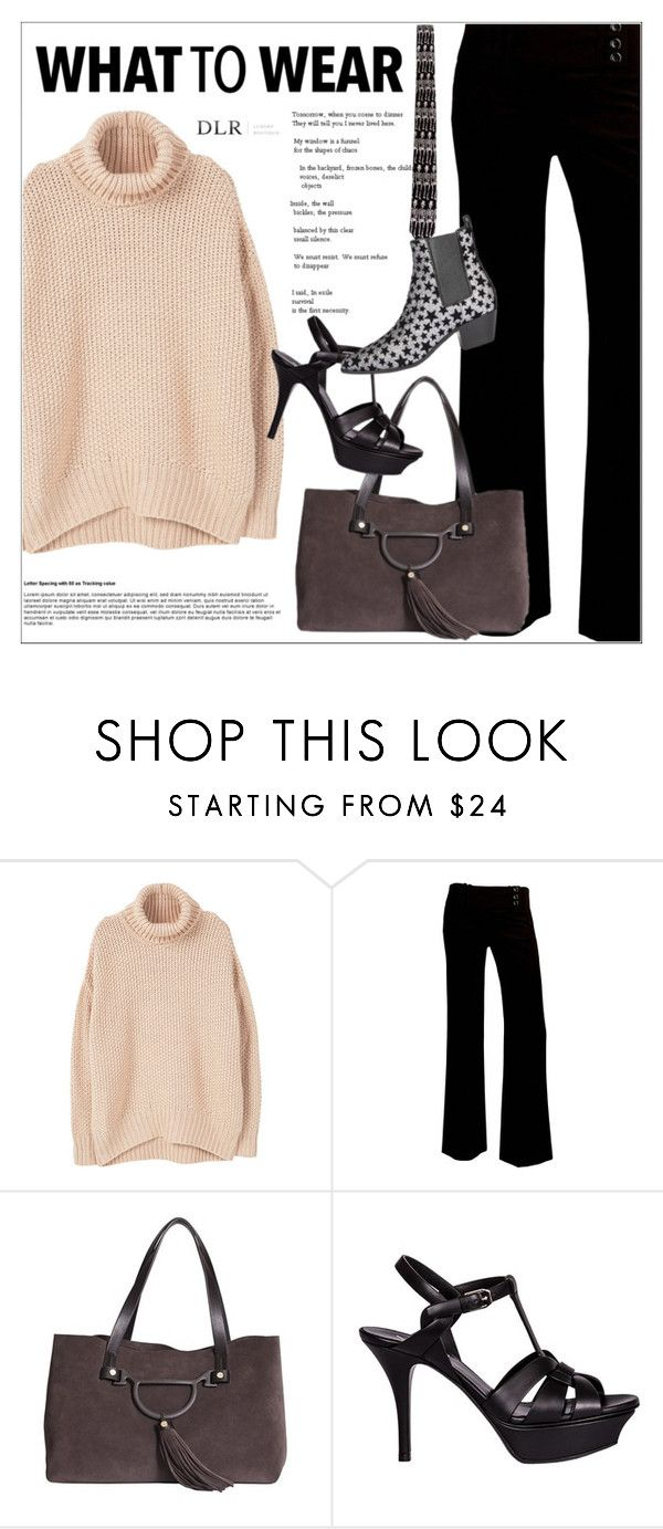 """DLRBOUTIQUE.COM"" by mirachu-1 on Polyvore featuring MANGO, A. Byer, Borbonese and Yves Saint Laurent"