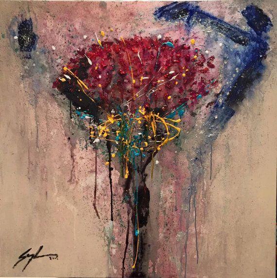 Title: Flor de la India Acrylic on canvas 40 x 40 / 102 x 102