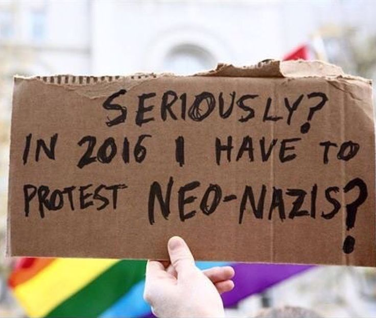Accurate. When will I get to stop protesting neo-nazis?