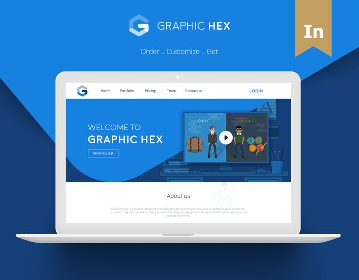 """Check out this @Behance project: """"Graphic Hex - Website""""…"""