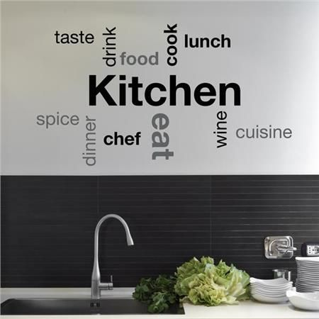 Kitchen Wall Sayings - Home D�cor Line Wall Decals