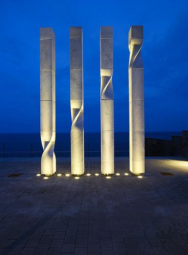 Sculptures for the W Barcelona Hotel in Barcelona, Spain by Ricardo Bofill