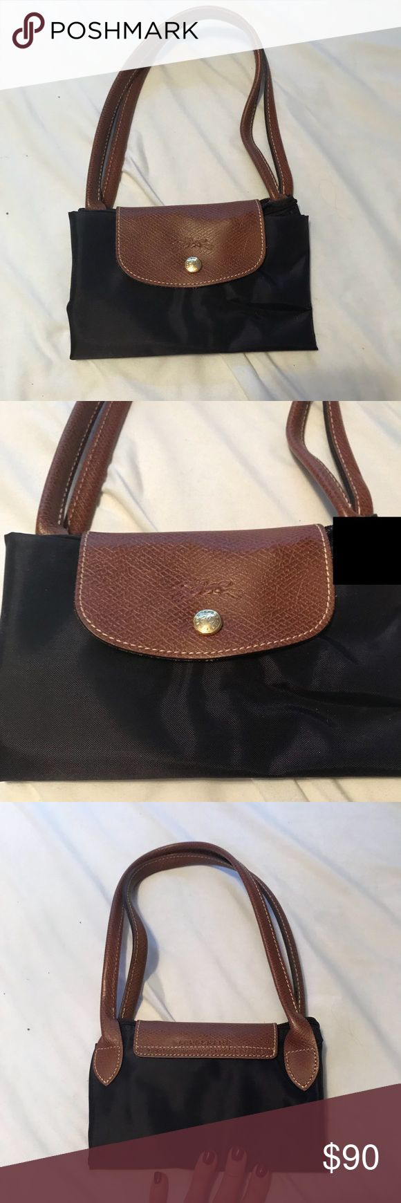Longchamp medium tote with long straps aubergine Longchamp medium tote with long straps aubergine - excellent condition.  Used maybe once. Longchamp Bags Totes