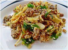 Cozinhando o 7: Carne à Brás, um prato feito com sobras