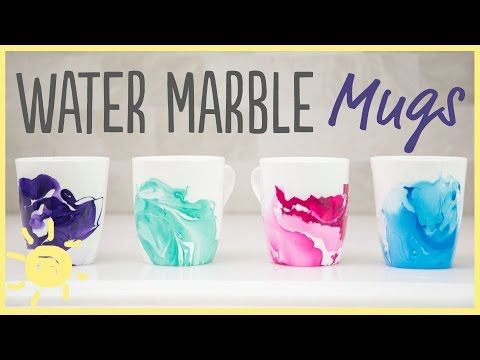 DIY | Water Marble Mugs with Only 2 Ingredients!! (Easy Gift idea!) - YouTube