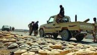 Dalam 20 Bulan Pemberontak Syiah Houthi Sebarkan 1/4 Juta Ranjau Darat Di Yaman Syiahindonesia.com - Seorang sumber militer pemerintah sah Yaman mengungkapkan sedikitnya seperempat juta ranjau telah disebar pemberontak Syiah Houthi dan sekutunya Ali Abdullah Saleh di kota-kota yang berhasil di rebut pasukan pemerintah bersama Aliansi Militer Islam.  Ini adalah angka yang kami dapatkan sejak dimulainya operasi pembebasan Yaman bersama Aliansi Militer Islam pimpinan Arab Saudi pada bulan Maret…