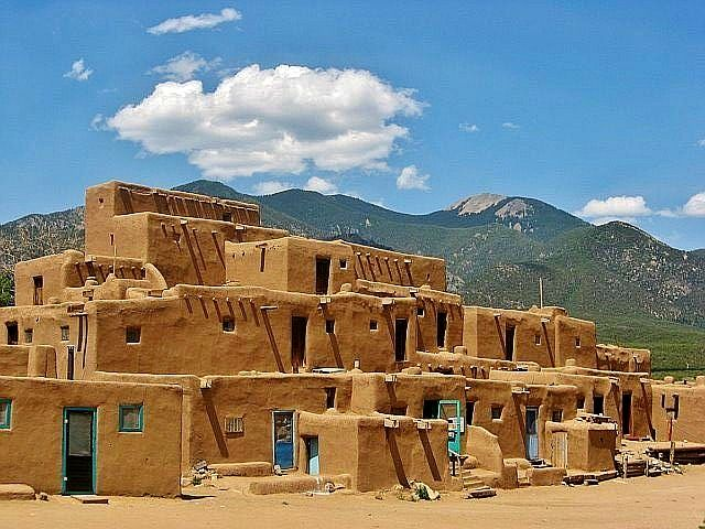 Daily Photo on the Blog: Taos Pueblo, New Mexico: http://www.ytravelblog.com/taos-pueblo-new-mexico/ #travel