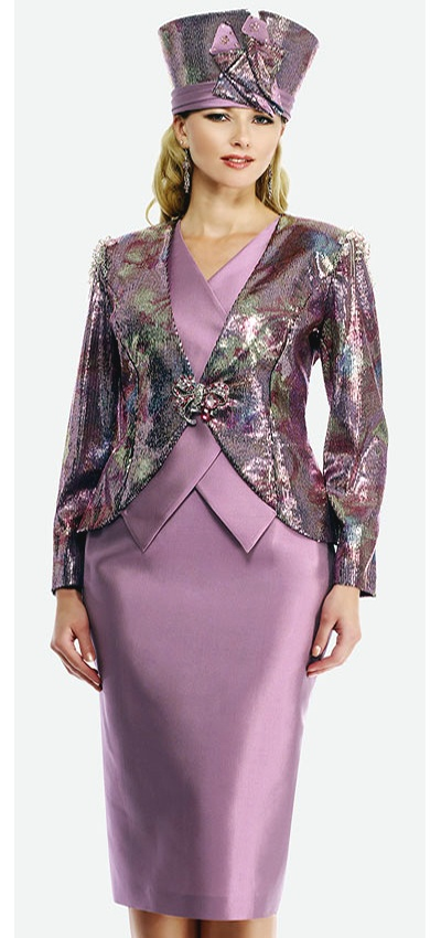 $298.90 Womens Raspberry Multi Silk 2pc Formal Skirt Suit By Moshita Luxe 8 to 24