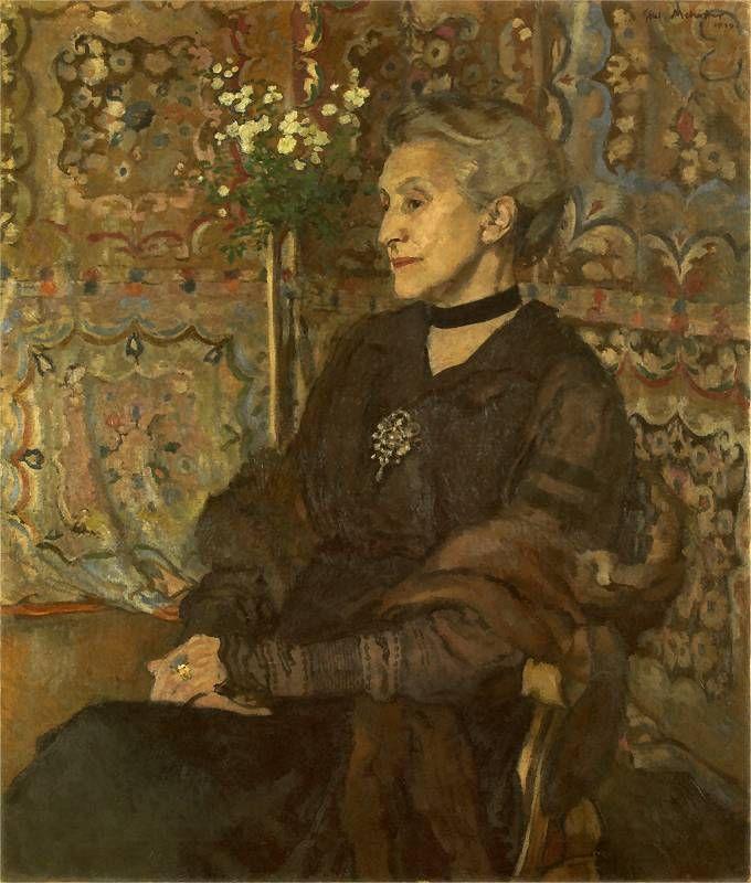 Portrait of Celina Sarowa Józef Mehoffer, 1919, by Jozef Mehoffer (Polish, 1869-1946)
