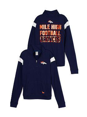 Denver Broncos Bling Boyfriend Half-Zip