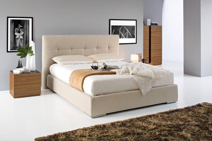 Swami di Calligaris #calligaris #letto #capitonnè #casa #bedroom