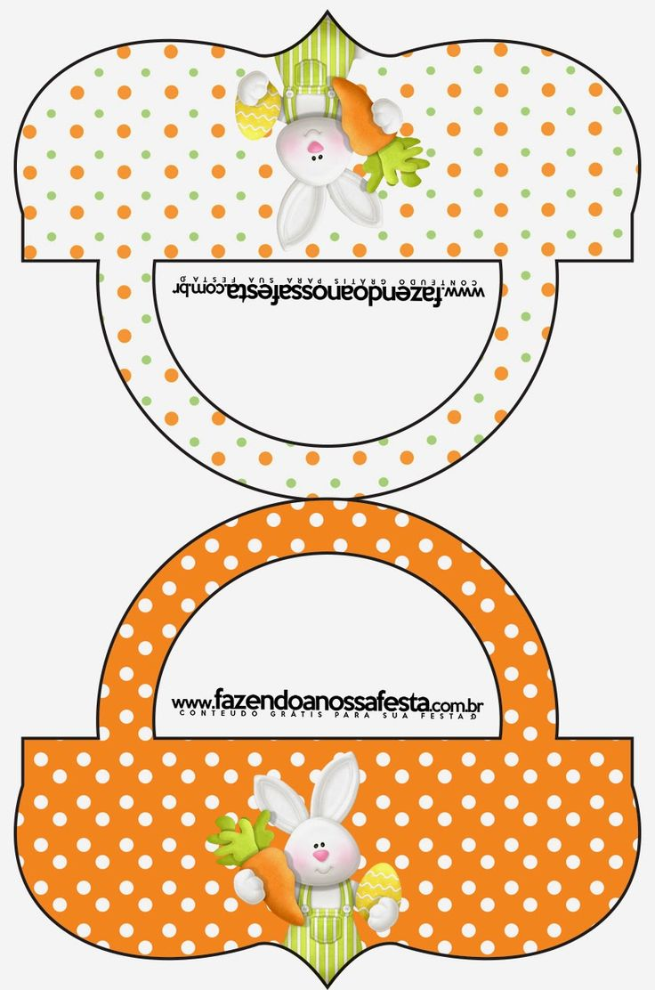 Easter in Orange Free Printable Candy Bar Labels.