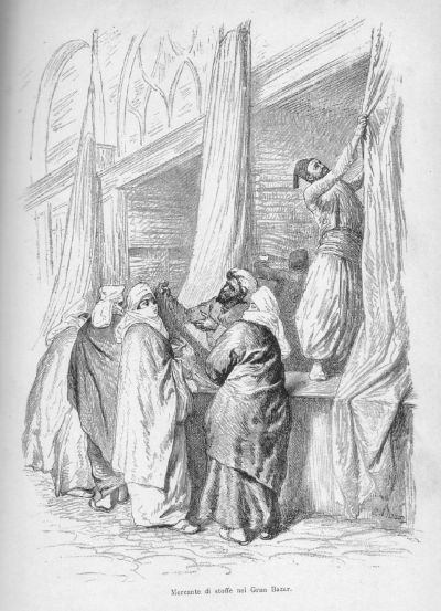 Dolap, drawing by Cesare Biseo  from De Amicis' Costantinopoli (1882 edition)