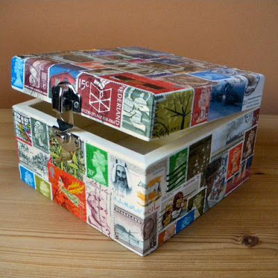 Wooden Craft Boxes To Decorate Amusing 118 Best Crafts Postage Stamp Crafts Images On Pinterest  Stamps Design Inspiration