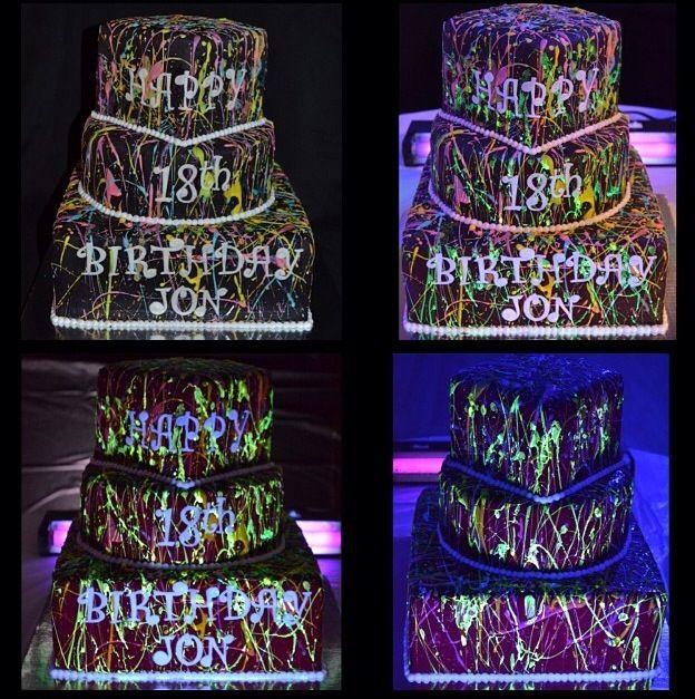 Glow In The Dark Cake Custom Cakes Pinterest Glow