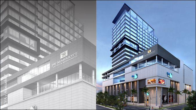 JW Marriot Santo Domingo se sitúa sobre el Centro Comercial y Corporativo Blue Mall, ubicado en el corazón del distrito comercial de Santo Domingo y a pocos minutos del aeropuerto.   #Architecture #Tourism #GVA #usomixto