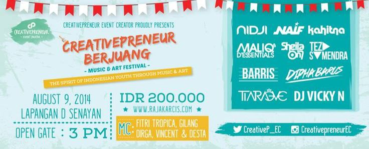 Creativepreneur Berjuang Music, 9 August 2014 at Lapangan D Senayan