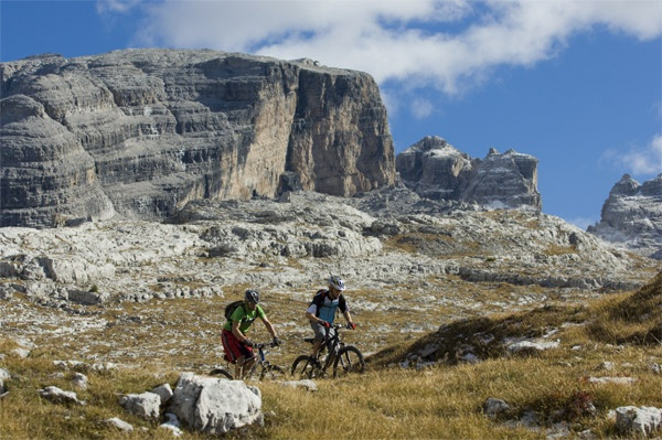 Biking in the Dolomites