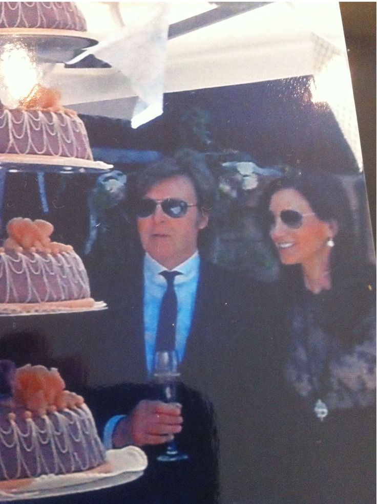 * Paul McCartney * with wife Nancy at Friar Park. Dhani Harrison's Wedding Party. 2012.