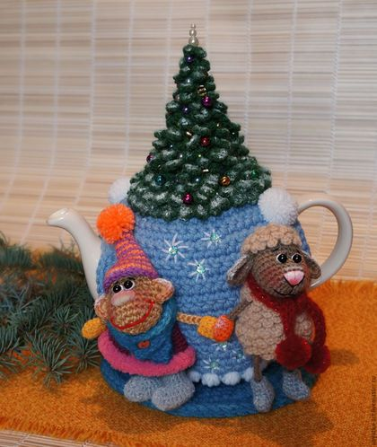 "The kitchen is handmade. Fair Masters - handmade. Buy Warmer for teapot ""Christmas"" (with kettle). Handmade. Warmer on the kettle"