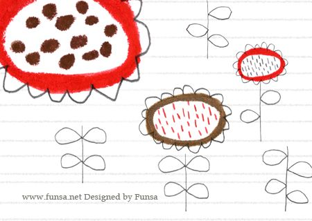 illustration, drawing, print, flower textile pattern surfacedesign by Funsa 텍스타일, 패턴, 일러스트, 펀사