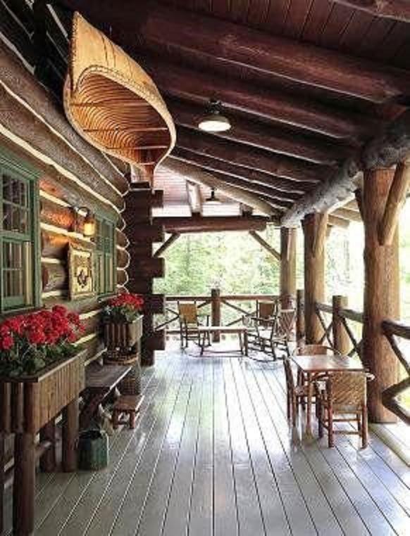 The Perfect Wraparound Porch For A Log Cabin Bonus Find