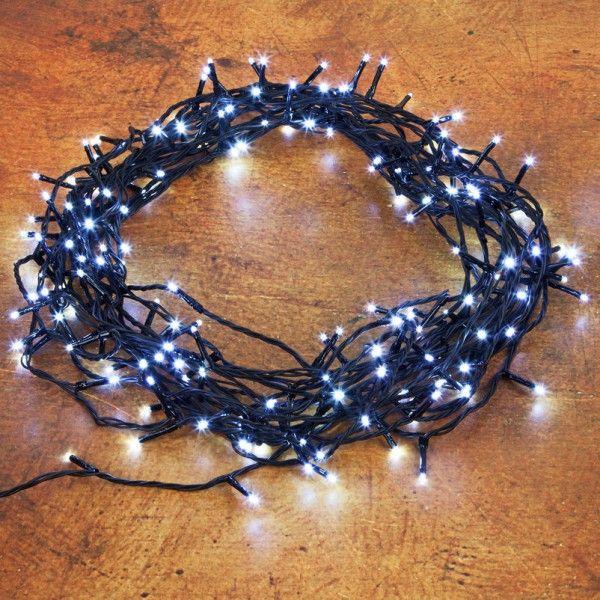 Pflanzen-Kölle LED Ricelight-Lichterkette 180 Lichter, kaltweiß, 13,5 m, schwarzes Kabel  Glänzender Lichterzauber Innen und Außen: LED Ricelight-Lichterkette mit 180 kaltweißen Lichtern und schwarzem Kabel.