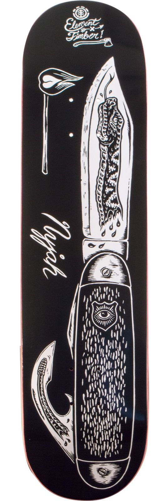lement Skateboards Nyjah Huston Featherlight Knife Skateboard Deck