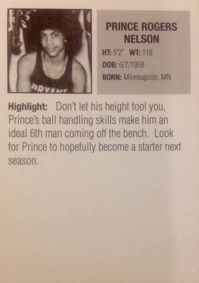 Prince Basketball Rookie Card