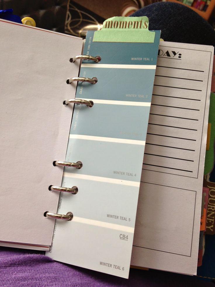 Planner dashboard, today marker, tab, planner organization  http://emmafilofaxnewbie.blogspot.com/2014/07/inside-my-filofax-diary-tab.html