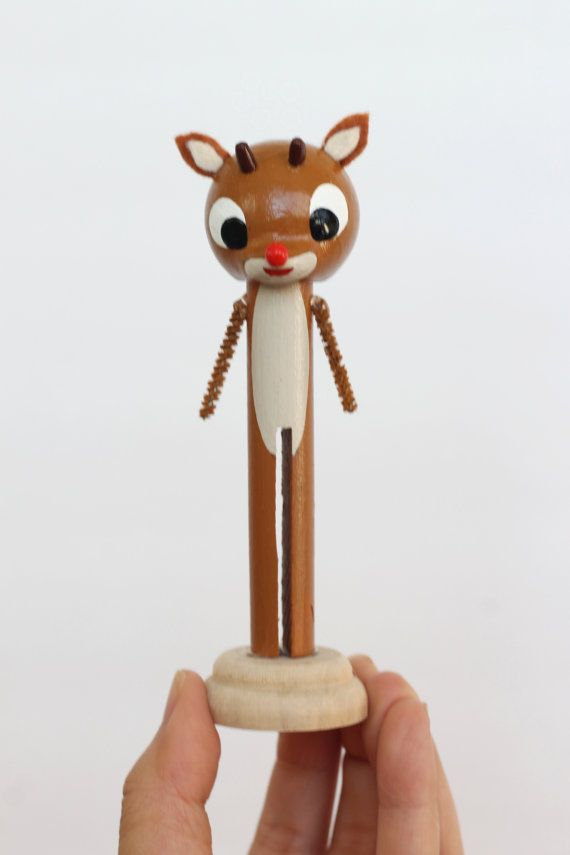 Rudolph clothespin doll by LeftonLynnaLane on Etsy