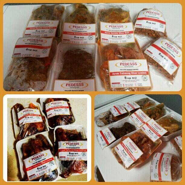 Frozen pack khas Warung Nasi PEDESSS Tuturipah, Jl. Arteri Pd. Indah Komplek Kodam P17 (samping BRI) Jakarta Selatan