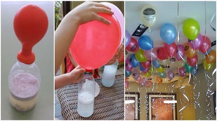 Organisierst du in Kürze eine Feier und möchtest du dann Ballone fliegen lassen? Du hast aber keine Lust, eine teure Heliumflasche dafür zu mieten? Mit Haushaltsmittelchen kannst du aber ganz einfach Ballone aufblasen, die wunderbar in der Luft schweben. Dafür hast du die folgenden Zutaten nötig: – 1 Trichter – Natriumbicarbonat (Soda) – Weißen Essig …