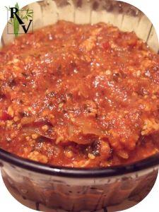 Sauce Bolognais4e Végétarienne - délicieux avec des pâtes complètes.