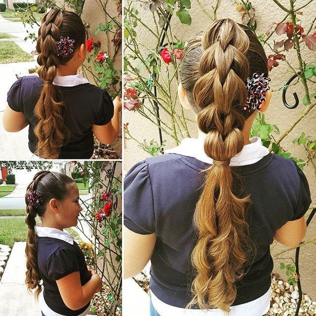 Top 100 school hairstyles photos Izzy had so much fun at her friends birthday party this weekend!! She hasn't stopped talking about it!😄😄 Today I did a 3 strand pull through braid into a hair wrapped ponytail with curls. 😊  #3strandpullthroughbraid #threestrandpullthroughbraid #pullthrough #pullthroughbraid #fluffybraids #hairwrappedpony #wandcurlsonfleek #braidstyles #braids...
