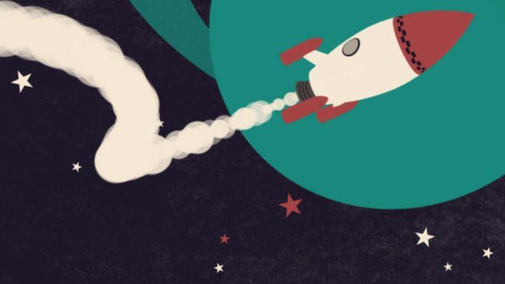 Pete Mellor - A Christmas Odyssey Tiphaine-illustration    #3D #rocket #space