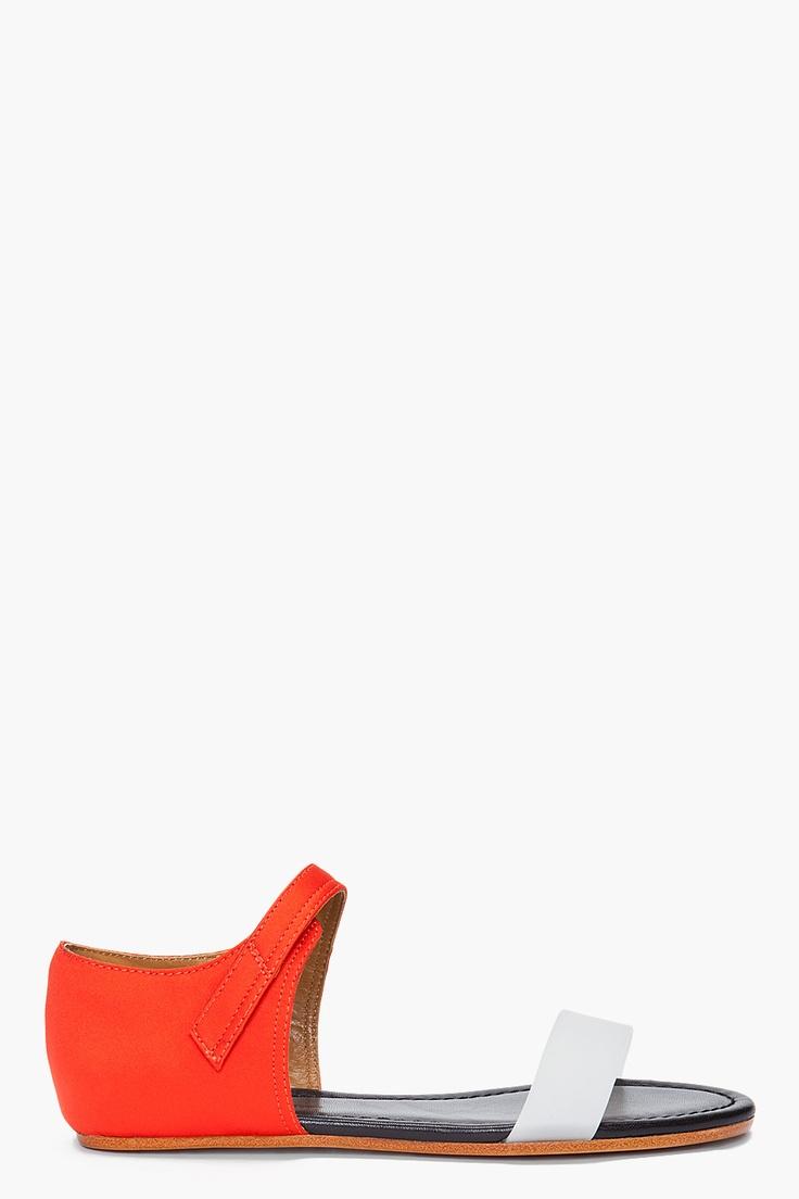 phillip lim: Shoes, Summer Flats, Shoes Colors, Adorable Shoes, Woman Shoes, Badass Flats, Textiles Sandals, Colors Blocks, Lim Sandals