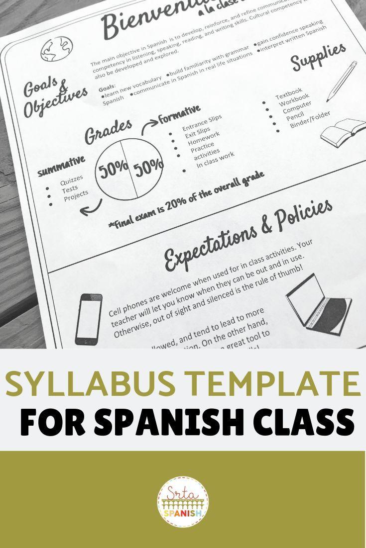 Descargar Pdf Ebook EDITABLE Syllabus Template For Secondary