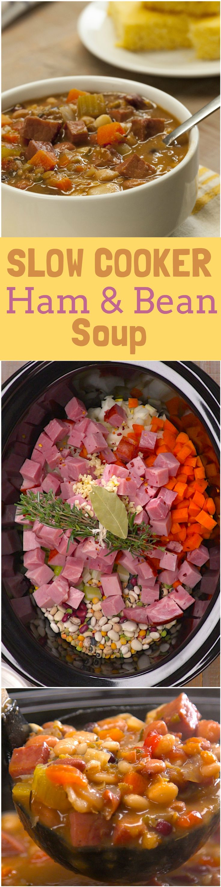 """You don't often hear a dish as simple as soup get called """"crazy good"""" — but that's the kind of praise that got thrown around when everyone in the TipHero kitchen tried this slow cooker ham and bean soup."""