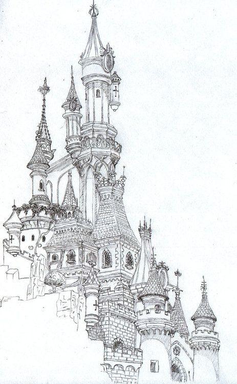 Best 25 Castle drawing ideas on