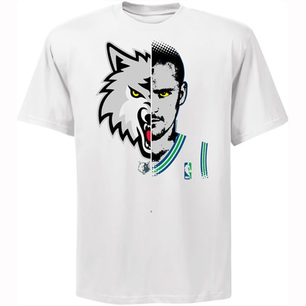 Majestic Kevin Love Minnesota Timberwolves GameFace T-Shirt - White - $7.99